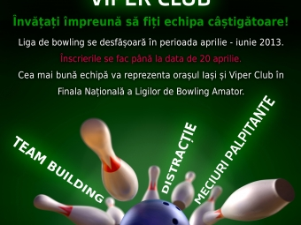 Bowling contest poster